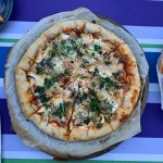 AND My pizza (yes, I made it from scratch).
